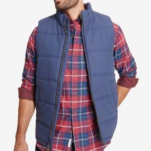 Weatherproof Vintage Mens Quilted Puffer Vest Blue